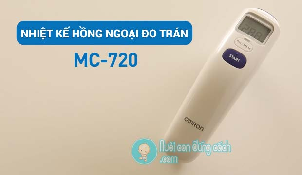 nhiệt kế đo trán Omron MC720