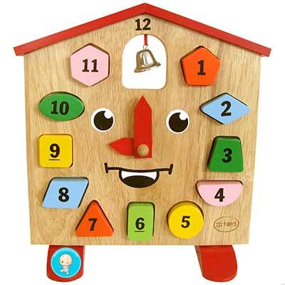 đồ chơi đồng hồ bằng gỗ