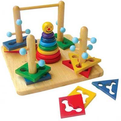 Đồ chơi bằng gỗ an toàn cho trẻ
