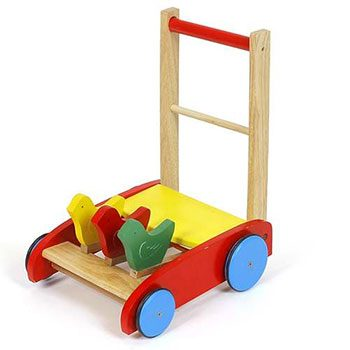 xe đẩy tập đi bằng gỗ