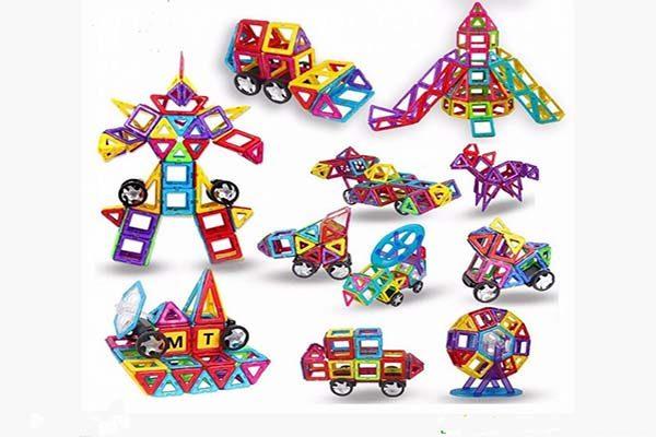 Giúp trẻ phát triển tư duy và khả năng sáng tạo với Bộ xếp hình miếng ghép nam châm Magbo